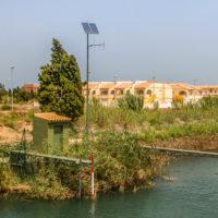 Sensores instalados en el río Bullens.